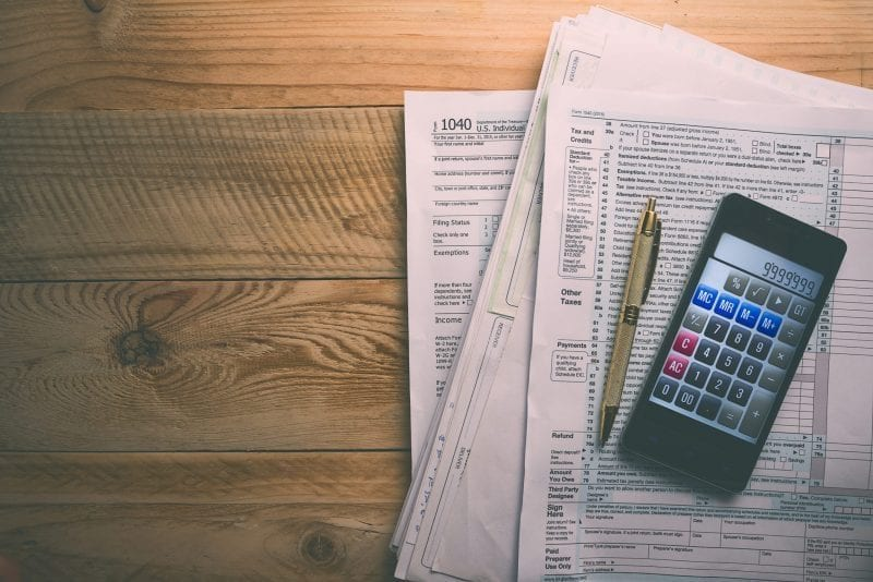 tax forms with calculator